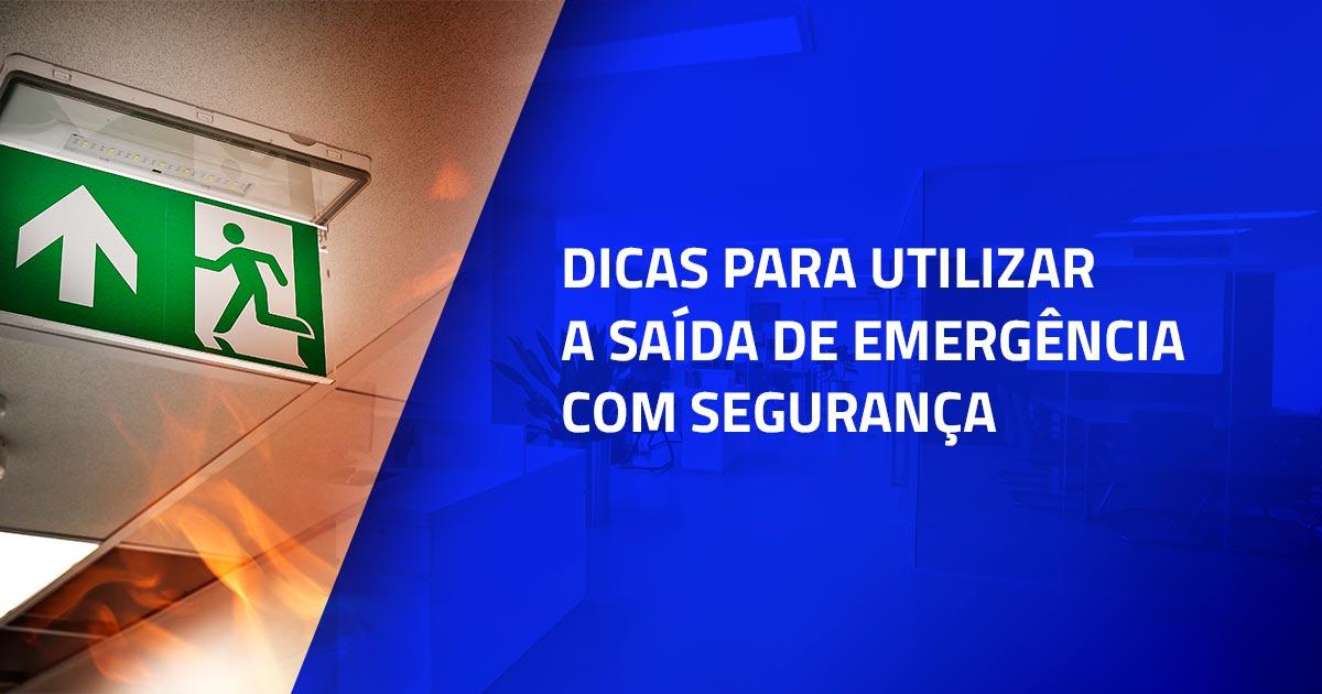 5 dicas para utilizar a saída de emergência com segurança